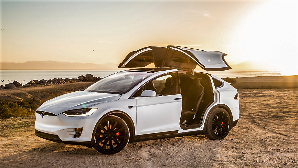 white color tesla