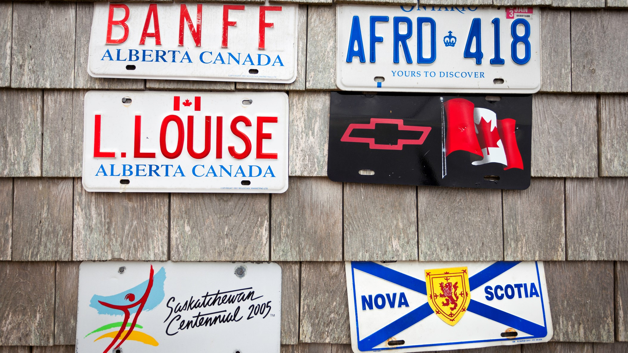 Ranking Canadian license plates: worst to best