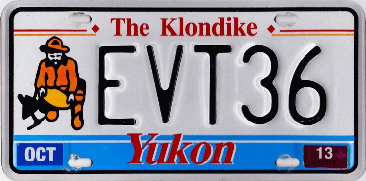 the yukon license plate